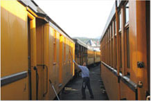 Rail Car Cleaning Image